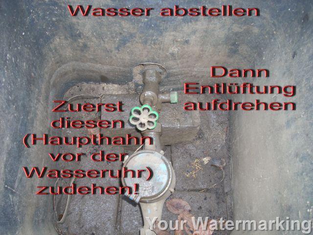 haupthahn wasser abdrehen